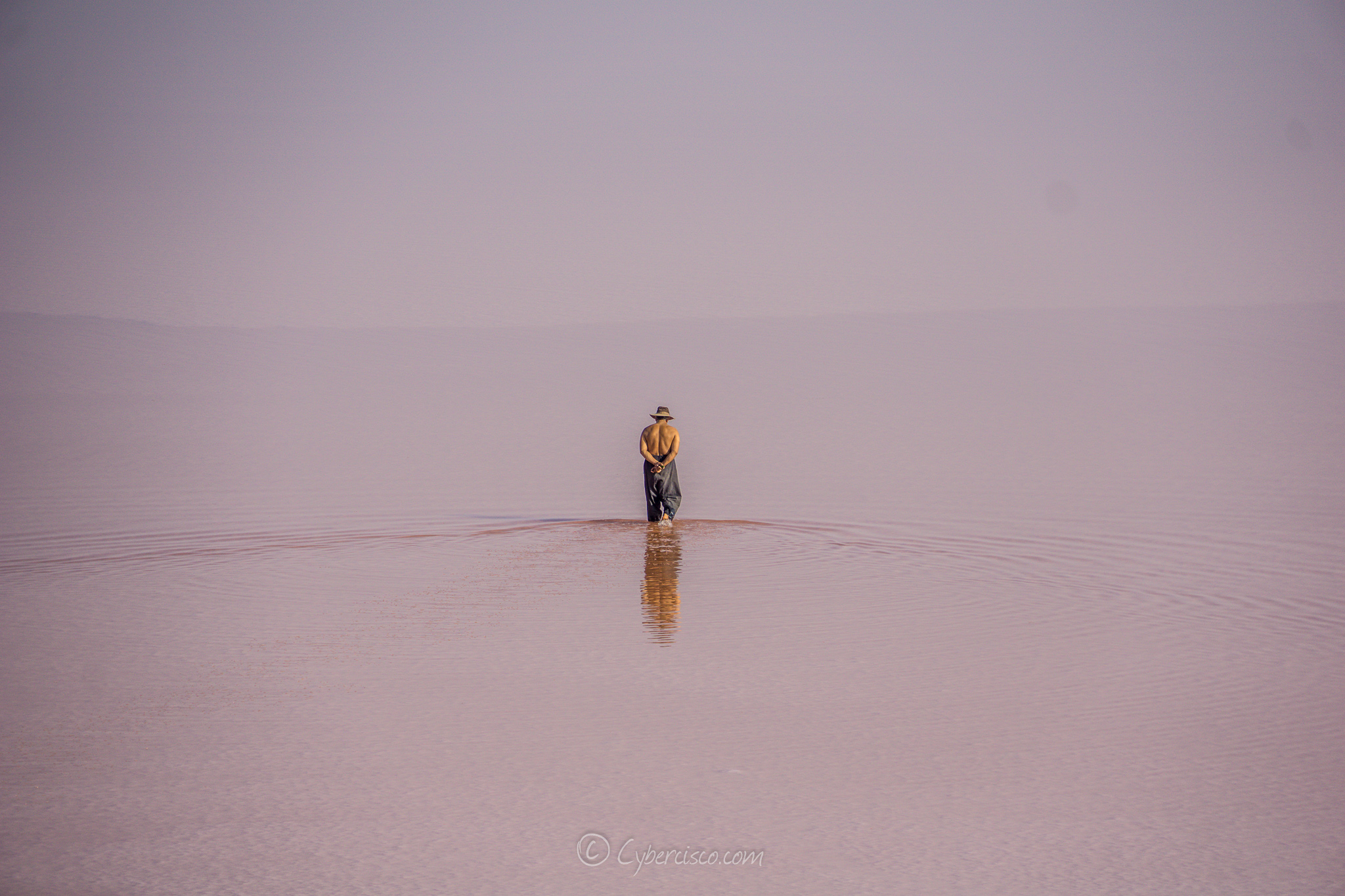 Salt lake stroll, Iran