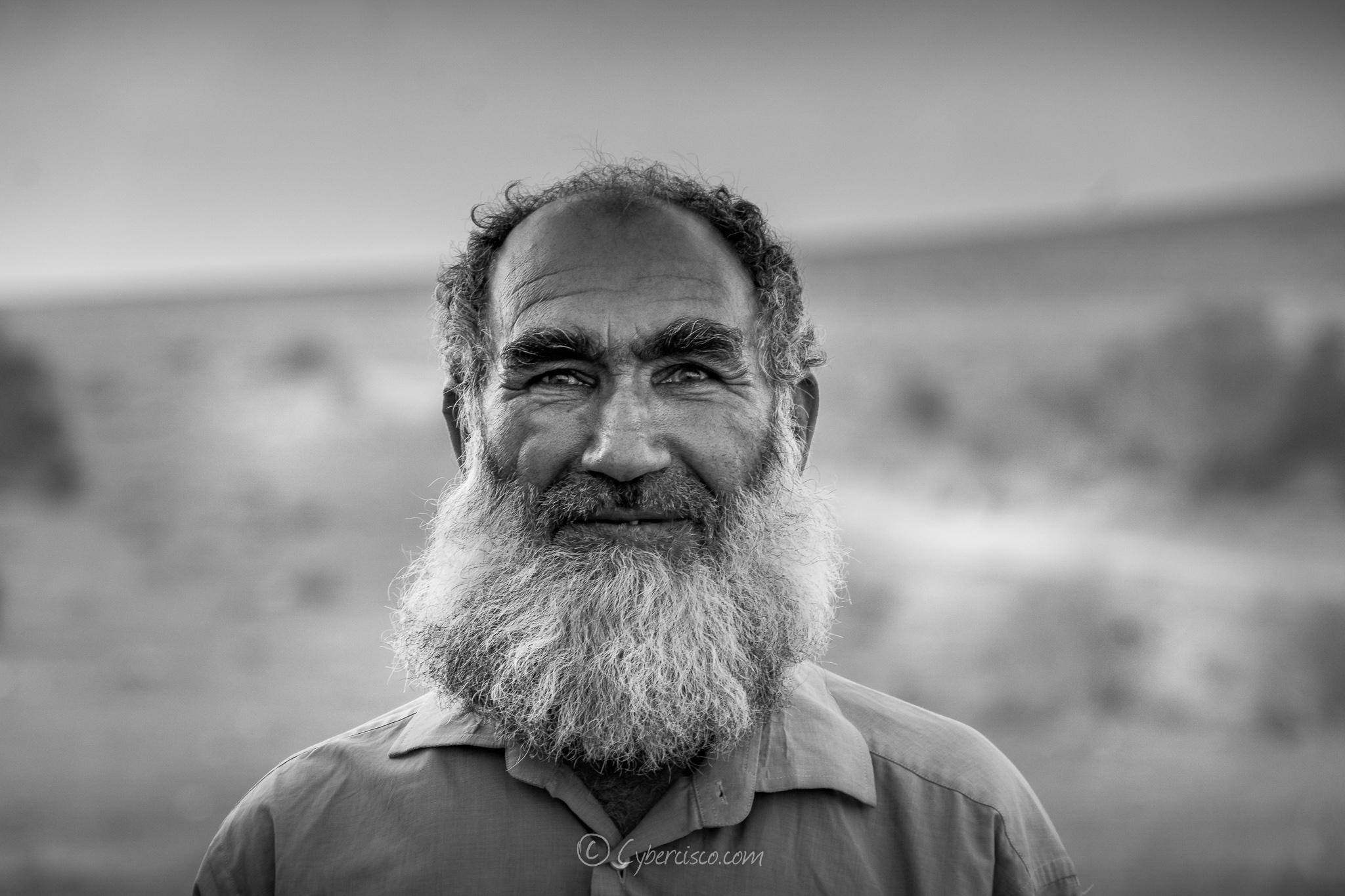 Afghan man working in Iran