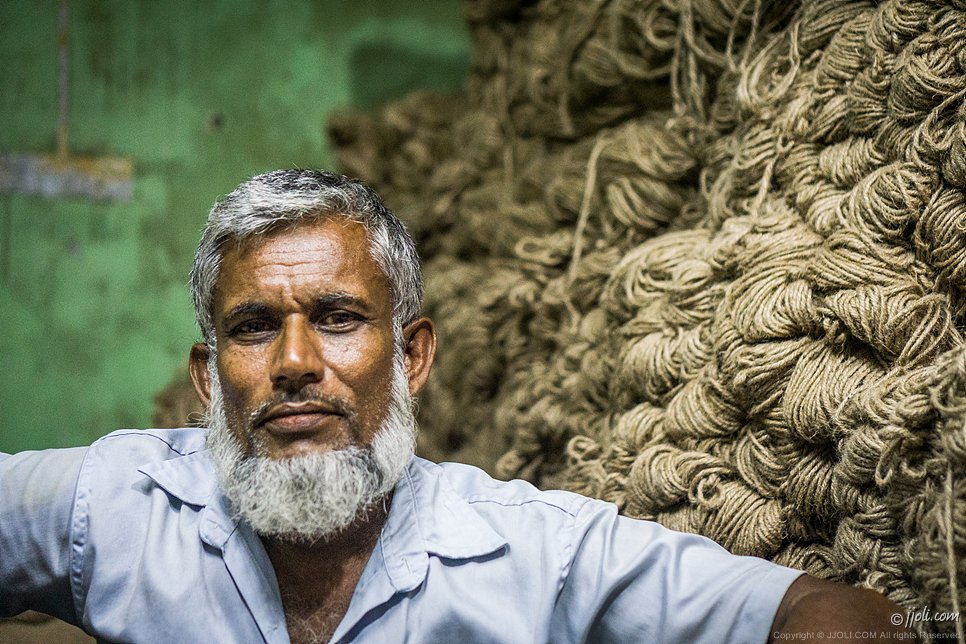 Jute trader in Bangladesh