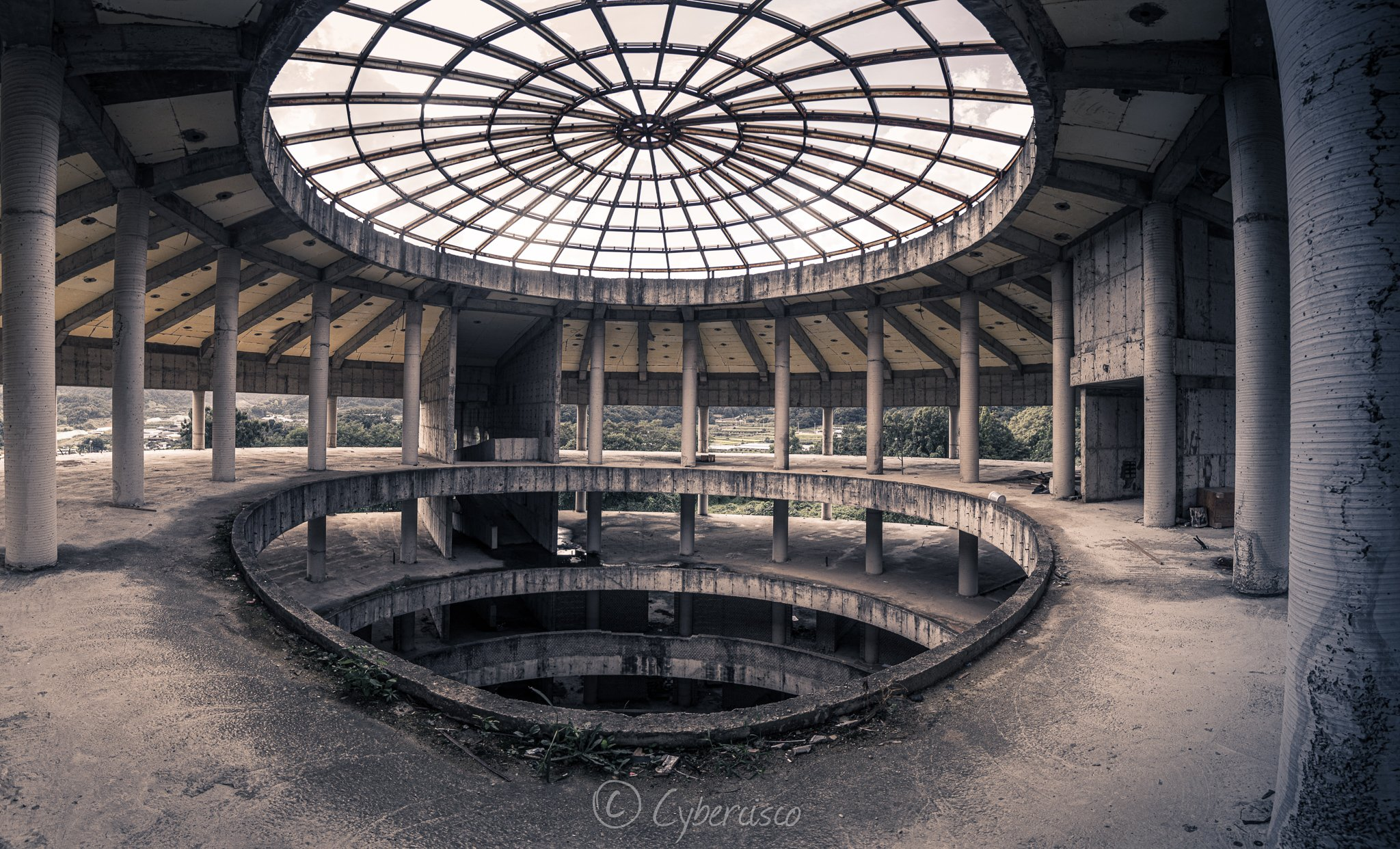 Abandoned university in Korea